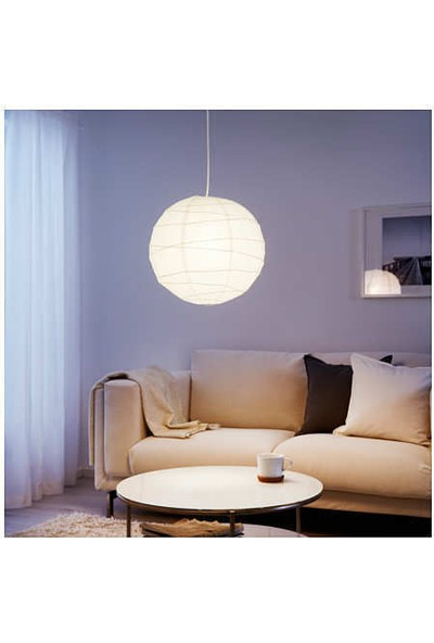 Ikea Regolit Kağıt Japon Feneri Sarkıt Lamba Tavan Lambası 45 cm