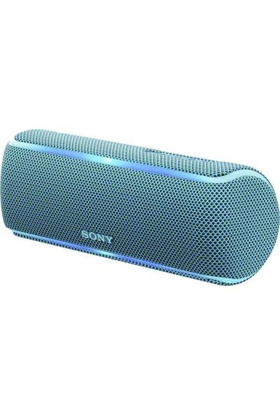 Sony SRS-XB21L Işıklı IP67 Su Geçirmez Kablosuz Bluetooth Hoparlör Mavi