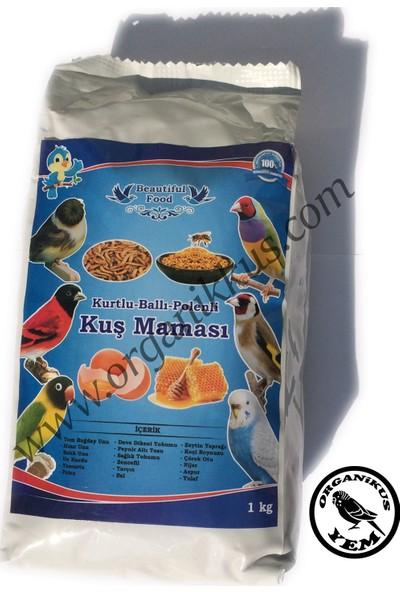 Beautiful Food Kurtlu Ballı Polenli Kuş Maması 1 KG