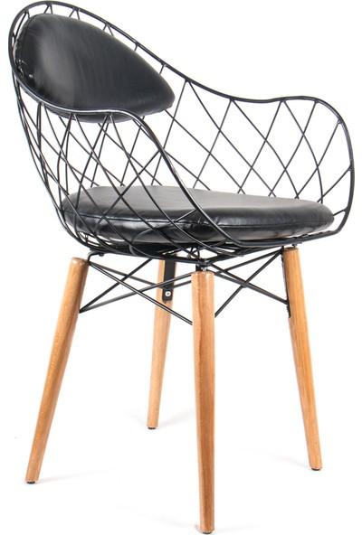 Ak Sandalye Tel Dalgalı Sandalye