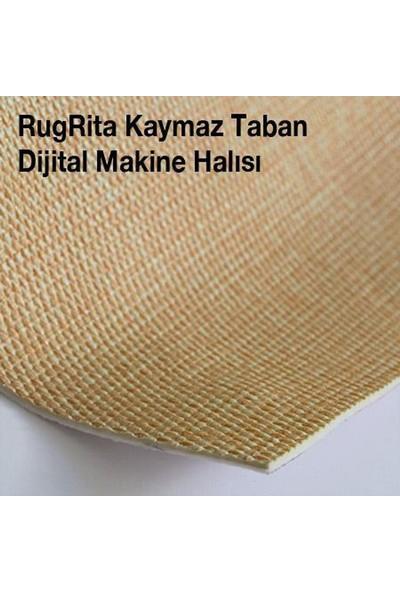 RugRita 3D Çakıl Taşı Desenli Yumuşak Yüzey Kaydırmaz Taban Halı