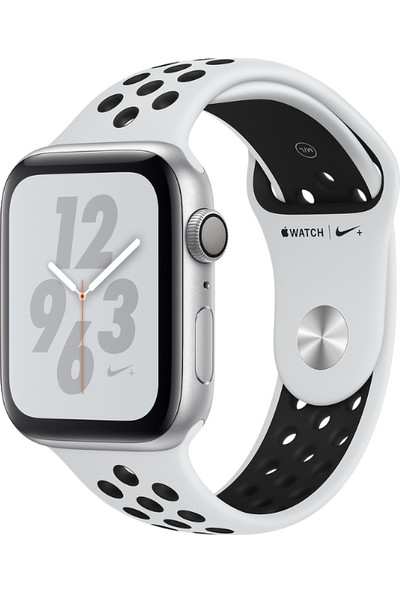 Apple Watch Seri 4 Nike+ 40mm GPS Gümüş Rengi Alüminyum Kasa ve Saf Platin/Siyah Nike Spor Kordon - (MU6H2TU/A)