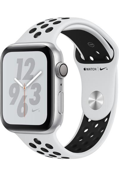 Apple Watch Seri 4 Nike+ 44mm GPS Gümüş Rengi Alüminyum Kasa Ve Saf Platin/Siyah Nike Spor Kordon - (MU6K2TU/A)