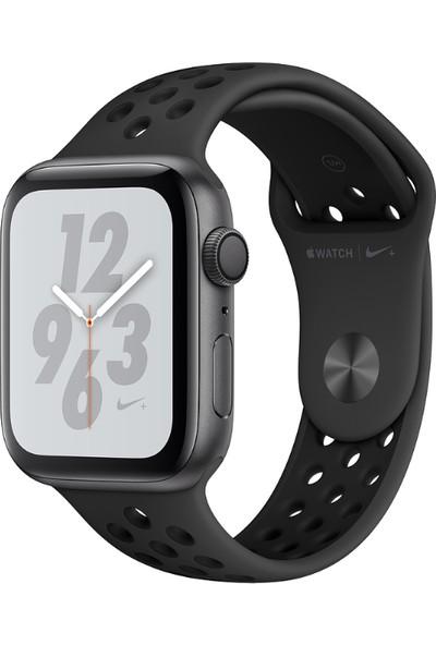 Apple Watch Seri 4 Nike+ 44mm GPS Uzay Grisi Aluminyum Kasa ve Antrasit/Siyah Nike Spor Kordon - (MU6L2TU/A)
