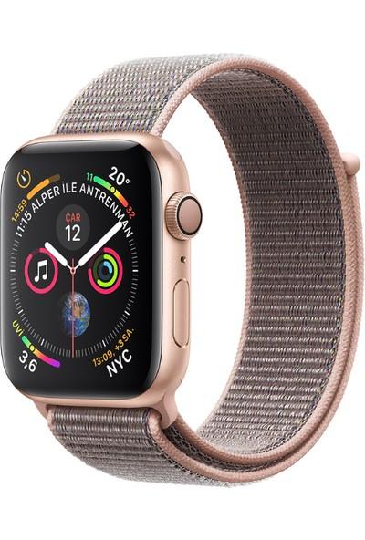 Apple Watch Seri 4 40mm GPS Altın Rengi Alüminyum Kasave KumPembesi SporLoop - (MU692TU/A)