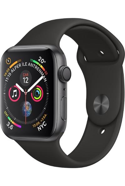 Apple Watch Seri 4 44mm GPS Uzay Grisi Alüminyum Kasave Siyah Spor Kordon - (MU6D2TU/A)