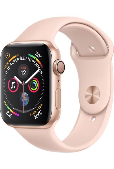 Apple Watch Seri 4 44mm GPS Altın Rengi Alüminyum Kasave KumPembesi SporKordon - (MU6F2TU/A)