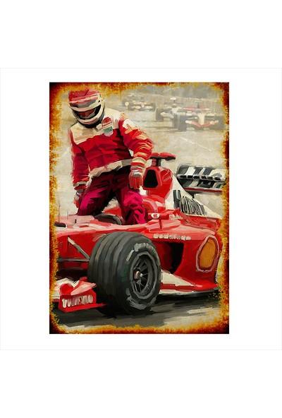 Tablomega Ahşap Tablo Formula 1 Yarışı