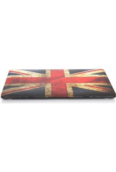"""Unico Apple Macbook Pro 13"""" ve 13.3"""" A1278 Sert Koruyucu Kapak - İngiliz Bayrağı"""