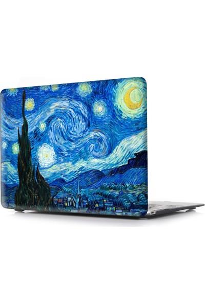 """Unico Apple Macbook Pro 13"""" ve 13.3"""" A1278 Sert Koruyucu Kapak - Yıldızlı Gece"""