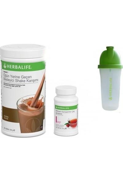 Herbalife Shake Cikolatalı+Ahududulu Çay 50 gr + Shaker Bardak
