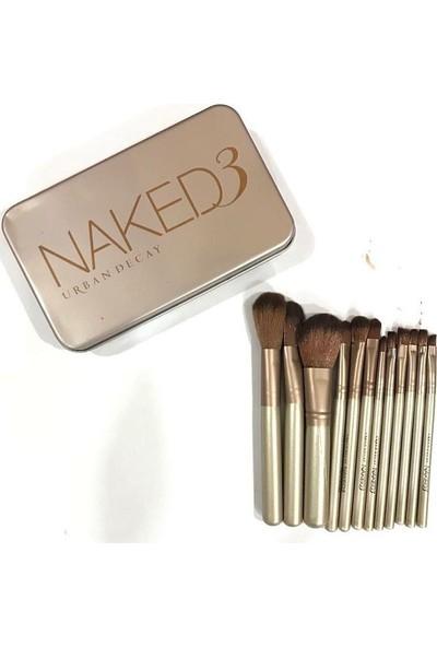 Naked 3 12'li Makyaj Fırça Seti