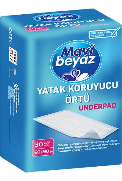 Mavi Beyaz Yatak Koruyucu Örtü - 30 Adet