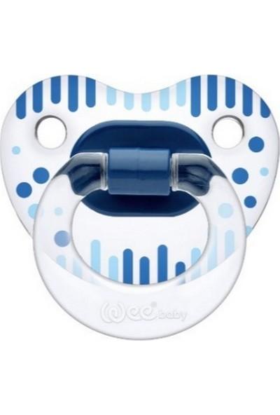 Wee Baby Şeffaf Desenli Damaklı Emzik No.1 0 - 6 Ay - Mavi