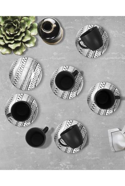 Keramika Cool Black Kahve Takımı 12 Parça 6 Kişilik-18409