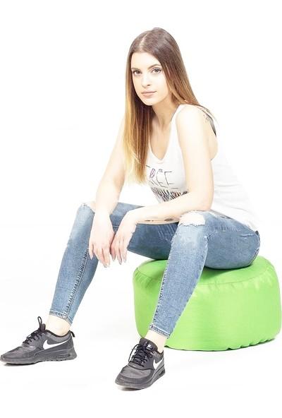Armutpark Round Seat Puf Minder Yeşil