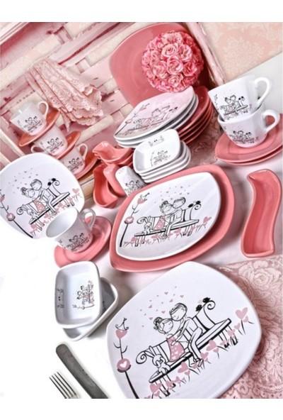 Keramika Tatlı Düş Kahvaltı Takımı 38 Parça 6 Kişilik