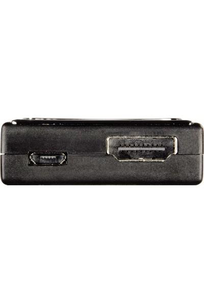 Hama Adaptör MHL Micro USB Fiş - HDMI Soket Siyah HM.83188