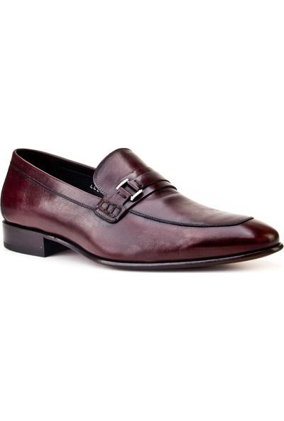 Cabani Tokalı Kösele Enjeksiyonlu Klasik Erkek Ayakkabı Kahve Deri