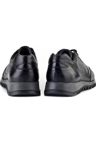 Cabani Sneaker Erkek Ayakkabı Siyah Naturel Floter Deri