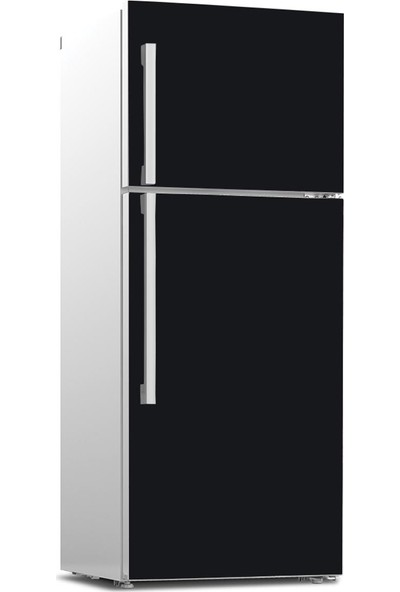 Tilki Dünyası Buzdolabı Ön Yüz Kapak Kaplama Sticker 502 Siyah