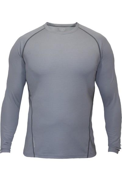 Sivugin Uzun Kollu Outdoor Koşu Spor Tişört -Gri