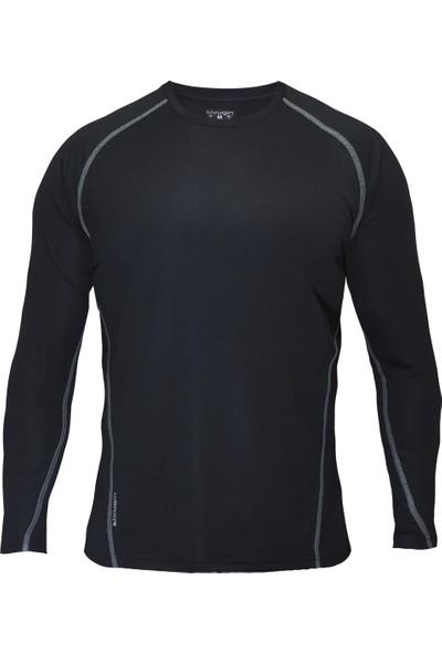 Sivugin Uzun Kollu Outdoor Koşu Spor Tişört -Siyah