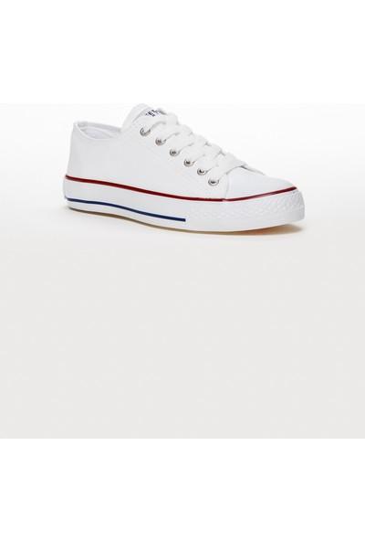 Tarçın TRC10-Günlük Unisex Beyaz Keten Spor Ayakkabı
