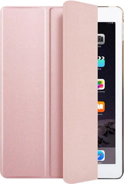 Redpoloshop Apple iPad 6. Nesil 2018 9.7 A1893 A1954 Kılıf Smart Cover Slim Rose Gold