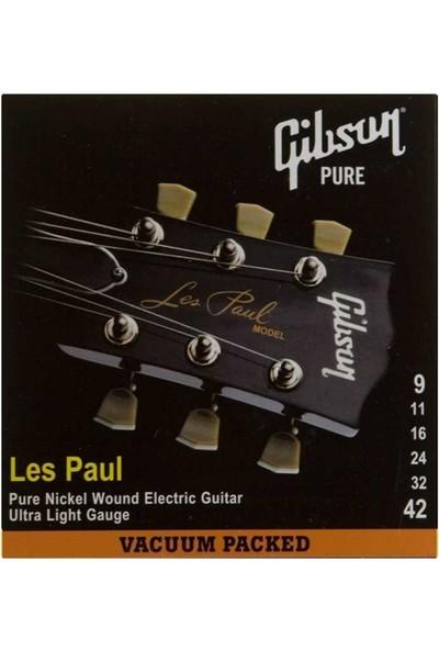 Gibson Les Paul SEG-LP9 Elektro Gitar Teli - 09-42