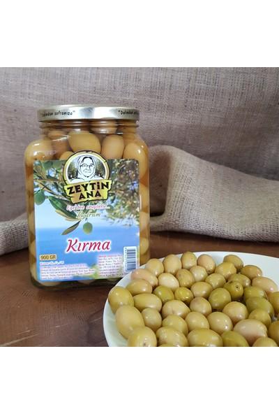 Zeytin Ana Kırma Yeşil Zeytin Cam Kavanoz 900 gr