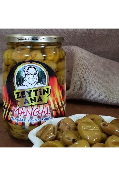 Zeytin Ana Mangal Yeşil Zeytin Cam Kavanoz 625 gr