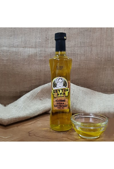 Zeytin Ana 500 ml Cam Şişe Naturel Sızma Zeytinyağı