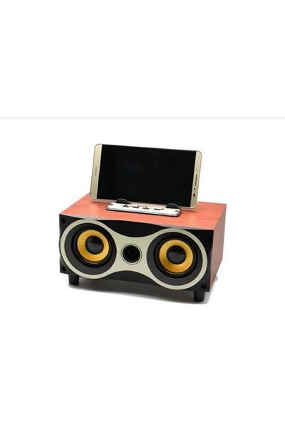 Wireless Ahşap Tasarımlı Yüksek Ses Kaliteli Ses Bombası