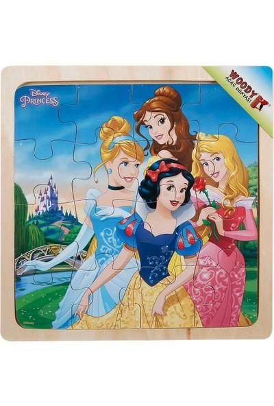 Woody Disney Prensesler 16 Parça Puzzle Ahşap Oyuncak Yapboz Şato