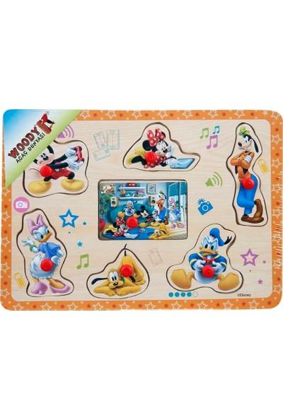 Woody Mickey Mouse Ve Arkadaşları Raptiyeli Ahşap Bul Tak Yapboz Turuncu