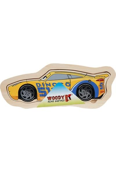 Woody Disney Cars 6 Parça Ahşap Oyuncak Yapboz Cruz Ramirez