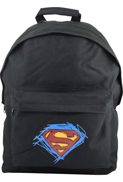 Superman Sırt Çantası Genç Siyah