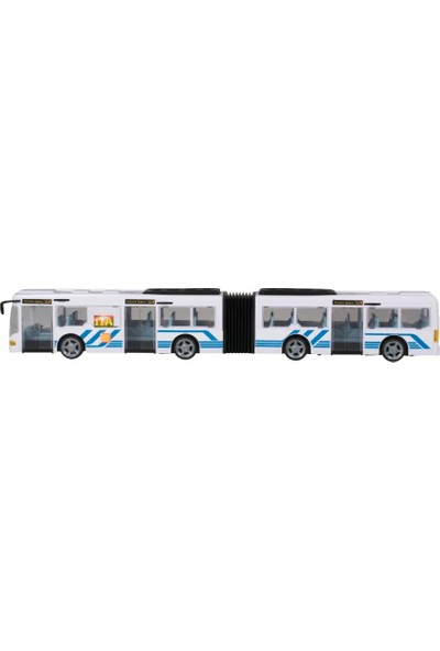 Teamsterz Sesli Ve Işıklı Körüklü Oyuncak Yolcu Otobüsü - Beyaz