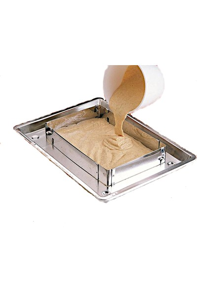 Dekamis Ayarlanabilir Dikdörtgen Kek Kalıbı H:10 cm.