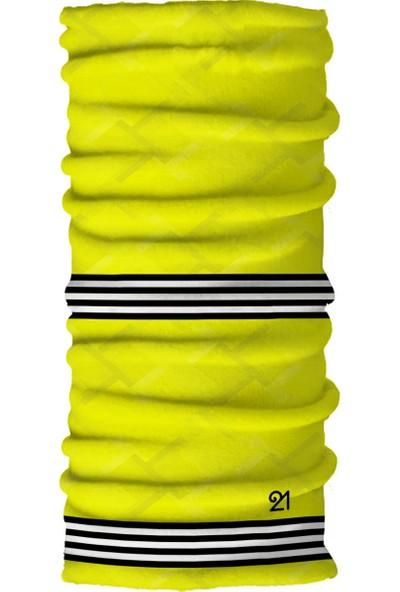 Fit21 Neon Sarı İnce Bandana Ve Spor Saç Bandı