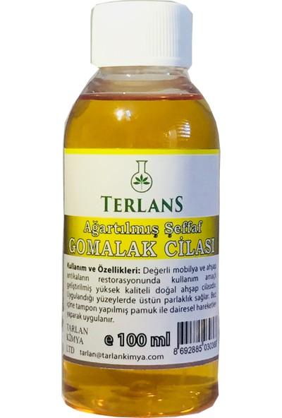 Terlans Ağartılmış Şeffaf Gomalak Cilası 100 ml - Bleached Shellac