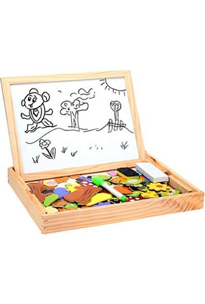 Piramigo Okul Öncesi Mıknatıslı Yazı Çizim Tahtası Farm Magnetic Puzzle