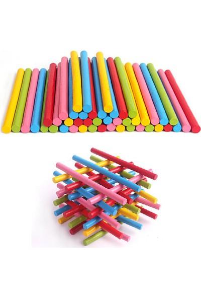 Piramigo Ahşap Sayı Çubukları 100 Adet Matematik Montessori Öğretim Yardımcıları