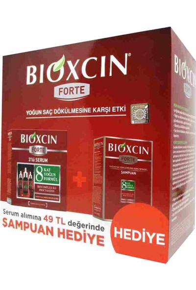 Bioxcin Forte Serum 3x30mm & Forte Şampuan Set