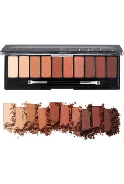 Flormar Eyeshadow Palette - Far Paleti No:03 Sunset 10 gr