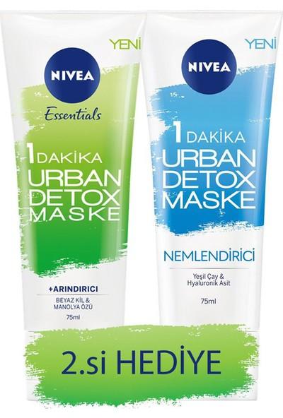 Nivea Urban Detox Maske 75 ml & Urban Nemlendirici Detox Maske 75 ml