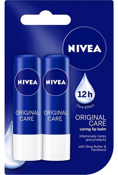 Nivea Care Lip Balm 2'li 2x4.8 gr