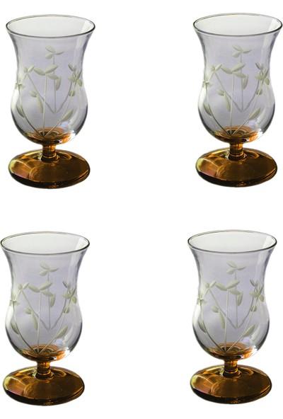 Başak Gelin Çiçeği (Turuncu) 440221 Gala Çay Ve Kahve Bardağı 4 Adet