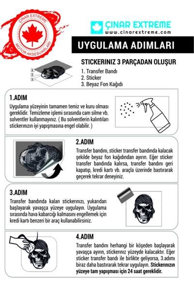 Çınar Extreme Airborne Skull Sticker